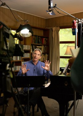 Conductor Michael Tilson Thomas Filming at Copland House