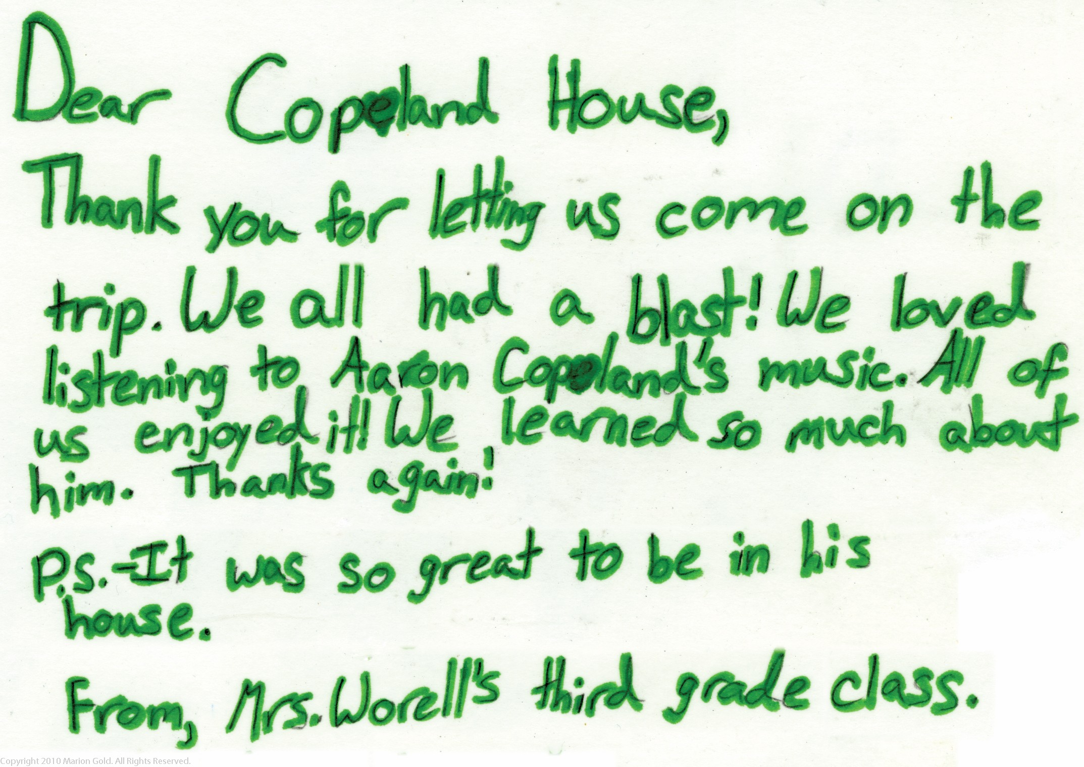 Copland House Education Program