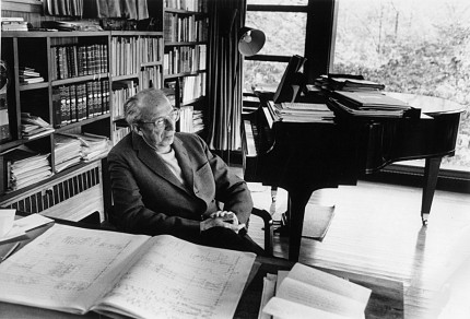 Aaron Copland at his Desk